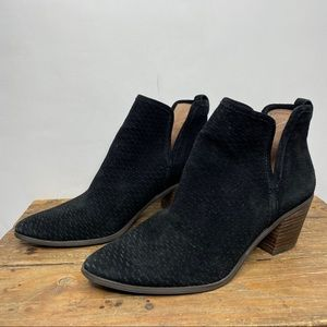 Lucky Brand | Black Suede Loria Ankle Bootie